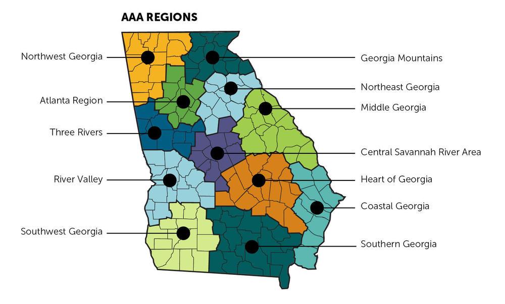 AAA regional map