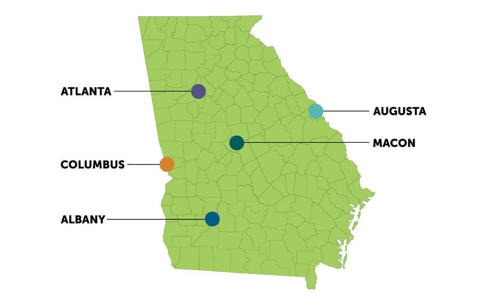 Map of MAC locations