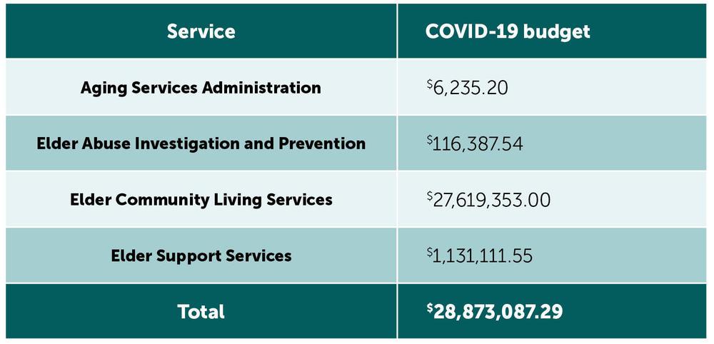 COVID-19 budget