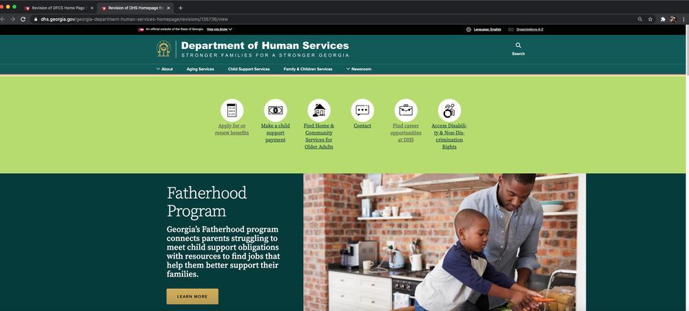 DHS homepage